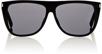 Saint Laurent Women's SL 1 Sunglasses-BLACK $330 thestylecure.com
