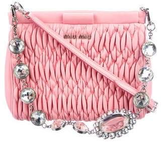 Miu Miu Matelassé Nappa Leather Crystal Bag