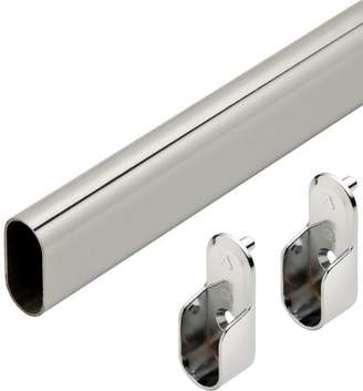Oval Closet Rod with End Supports - 36in