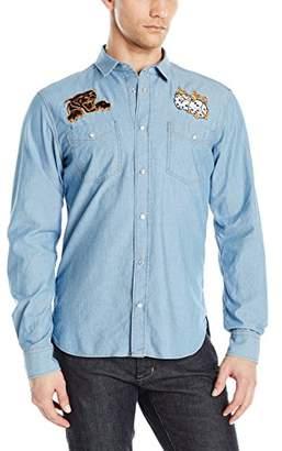Just Cavalli Men's Denim Dice Shirt