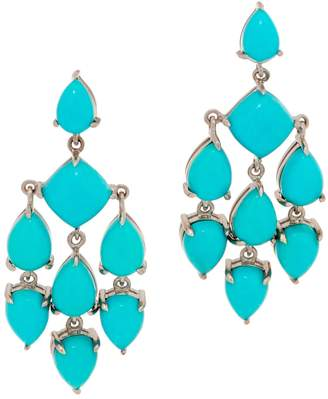 At Qvc Kingman Turquoise Chandelier Earrings Sterling Silver