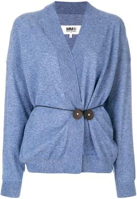 MM6 MAISON MARGIELA waist-tied cardigan