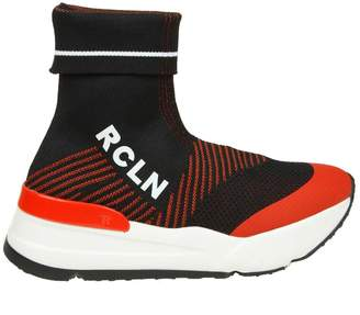 Ruco Line Rucoline sock Sneakers In Fabric Color Black / Red