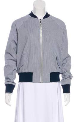 Jason Wu Grey by Striped Embroidered Jacket w/ Tags