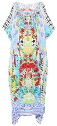 Camilla Crystal-embellished silk kaftan