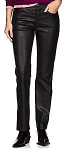Helmut Lang Women's Leather Straight Jeans - Black