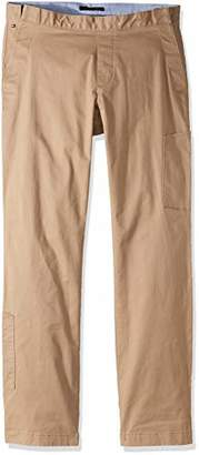 Tommy Hilfiger Adaptive Men's Seated Fit Chino Pants Elastic Waist Adjustable Closure