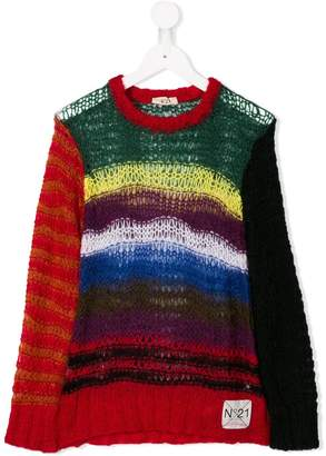 No.21 Kids loose-fit knit sweater