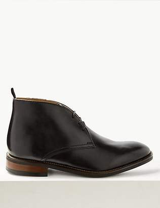 M&S Collection Leather Lace-up Chukka Boots