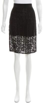 Milly A-Line Knee-Length Skirt