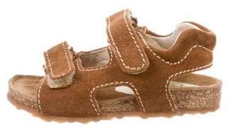 Il Gufo Boys' Suede Velcro Sandals