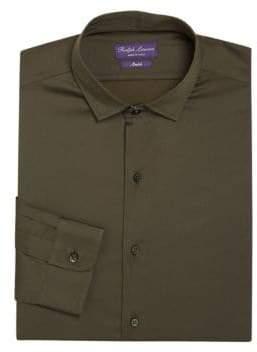 Ralph Lauren Purple Label Regular-Fit Amalfi Solid Dress Shirt