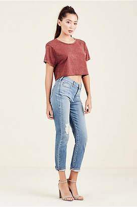 True Religion CROPPED BOYFRIEND WOMENS TEE