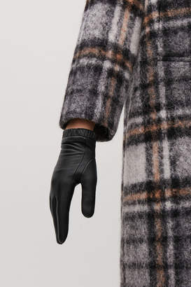 Cos GATHERED LEATHER GLOVES