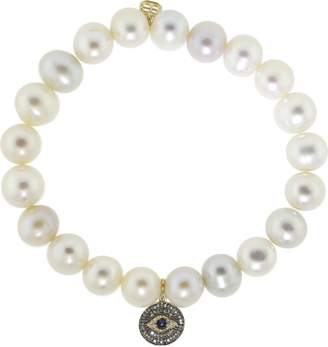 Sydney Evan Evil Eye Medallion Bracelet