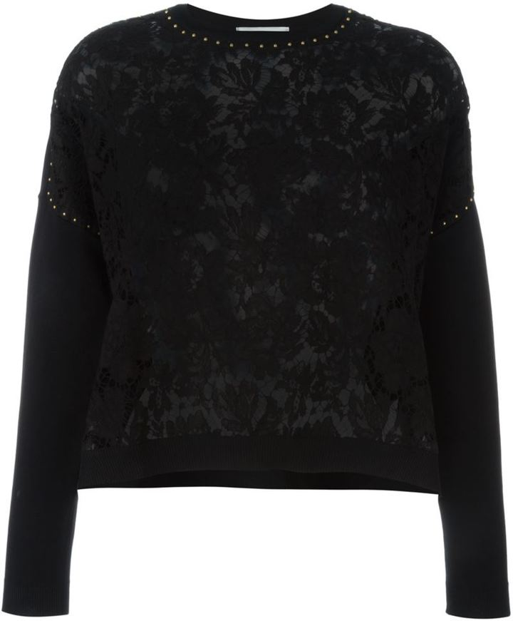 Valentino lace front jumper