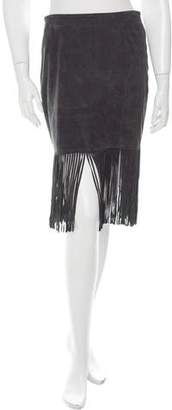Scoop Fringe-Accented Mini Skirt