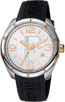 Ferré Milano Men's Date Watch w\/ Rubber Strap Black