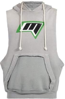 Maison Margiela Logo Print Sleeveless Sweatshirt - Mens - Grey