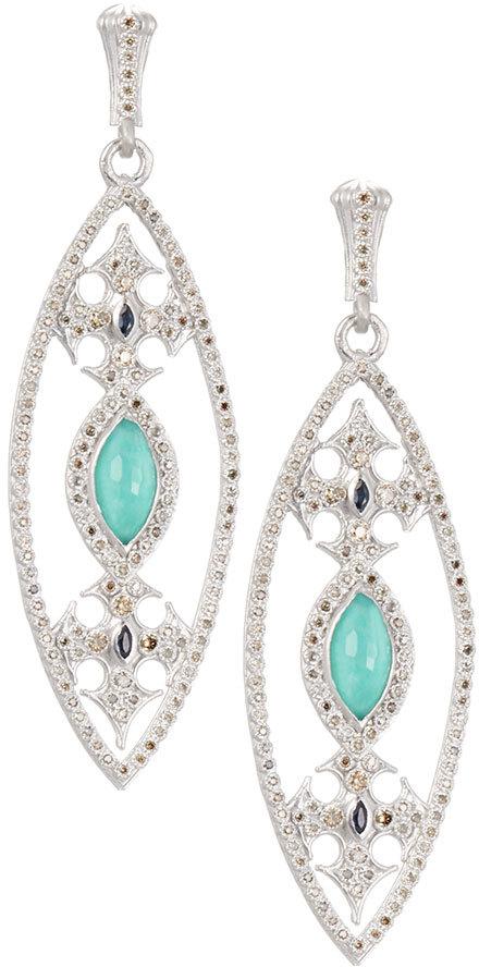 ArmentaArmenta New World Marquise Doublet Drop Earrings w/ Diamonds