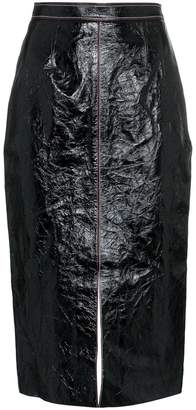 Roland Mouret Birch high waist fitted leather skirt
