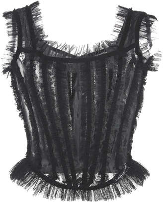 Dolce & Gabbana Sleeveless Tulle Top