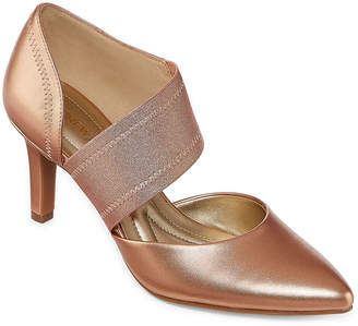ab97d47ec2d Andrew Geller Womens Tibby Pumps Pointed Toe Cone Heel