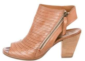 Paul Green Leather Peep-Toe Sandals