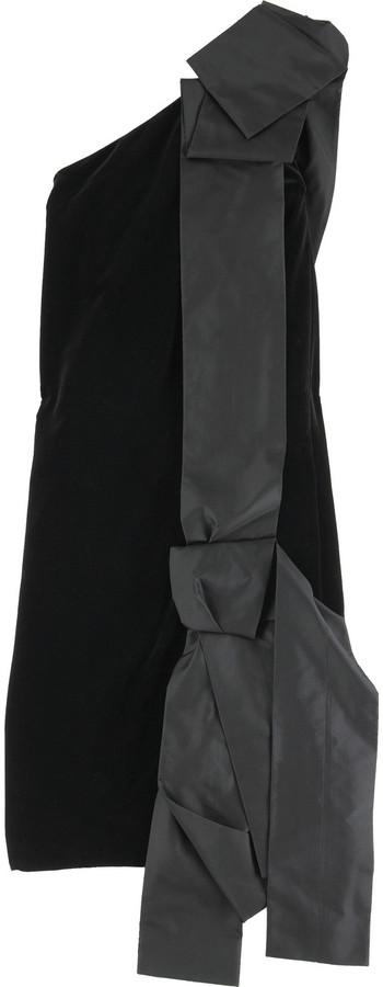Marc Jacobs One-shoulder velvet mini dress