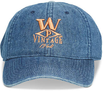 7302697389435 Weatherproof Vintage Men Embroidered Denim Logo Hat