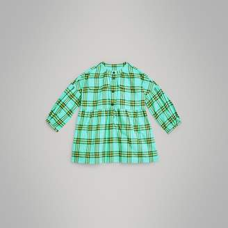 Burberry Check Cotton Flannel Dress