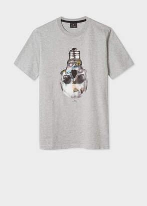 Paul Smith Men's Grey 'Skull Bulb' Print Organic-Cotton T-Shirt
