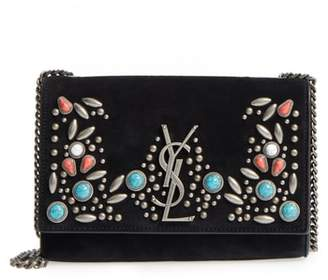 Saint Laurent Small Kate Studded Leather Crossbody Bag