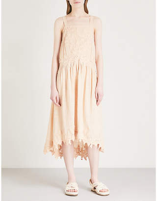 Free People Embroidered cotton dress