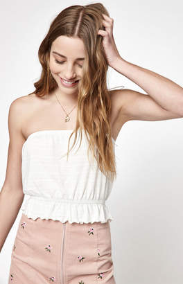 La Hearts Lettuce Edge Tube Top