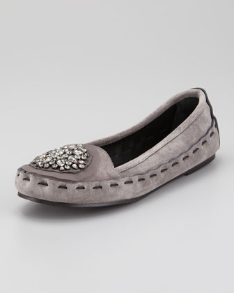 Vera Wang Jeweled Ornament Loafer