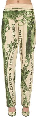 Moschino PRINTED WIDE LEG SWEATPANTS