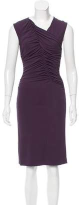 Narciso Rodriguez Ruched Knee-Length Dress