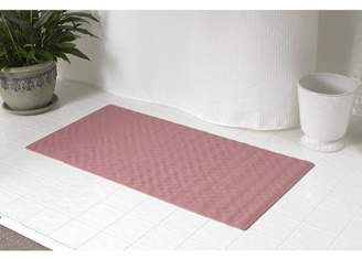 Carnation Home Fashions Small (13'' x 20'') Slip-Resistant Rubber Bath Tub Mat in Rose