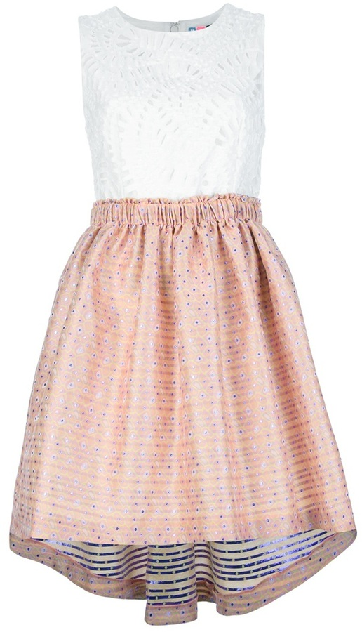 MSGM embroidered dress