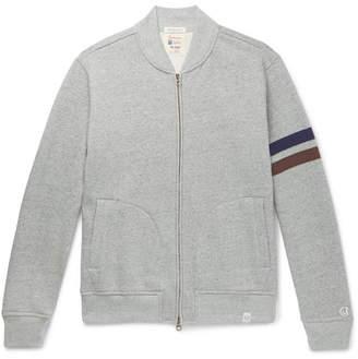 a5777f150b32 Kingsman + Todd Snyder + Champion Harry s Fleece-Back Cotton-Blend Jersey  Zip-
