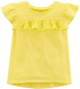 Carter's Short Sleeve Crew Neck T-Shirt-Toddler Girls