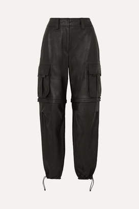 Alexander Wang Convertible Leather Cargo Pants - Black