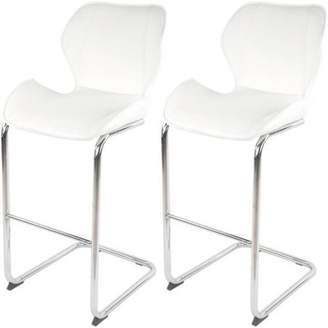 Generic Best Master Furniture Tufted PU Leather Counter Height Bar Stool, Set of 2, Multiple Colors Available