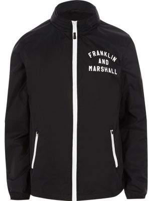River Island Mens Navy Franklin and Marshall lightweight jacket