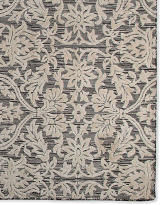 Mackenzie Childs Ivory Scroll Rug, 8' x 10'