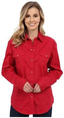 Roper Solid Poplin L/S Shirt Women's Clothing