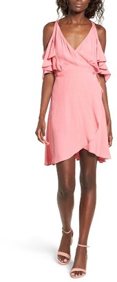 Women's Privacy Please Delta Off The Shoulder Wrap Dress $168 thestylecure.com