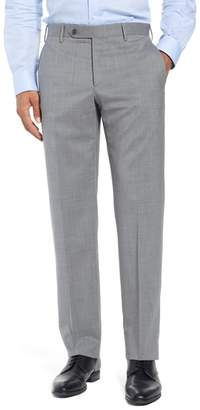 Zanella Parker Flat Front Stretch Wool Trousers