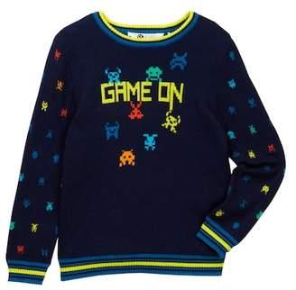 Petit Lem Game On Sweater (Toddler & Little Boys)